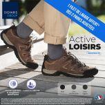 Chaussettes de contention Active Loisirs (Bambou) (Homme) Classe 2