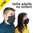 Lot de 100 masques Barrière Réutilisable (adulte ou enfant)