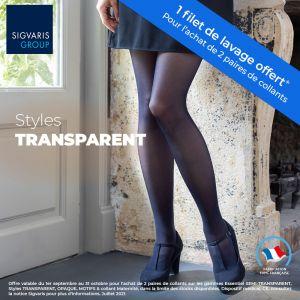 Collant de contention Styles Transparent (Divin Eclat) Classe 2