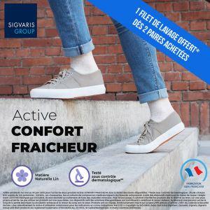 Chaussettes de contention Active Confort Fraîcheur (Origin Lin) (Femme) Classe 2