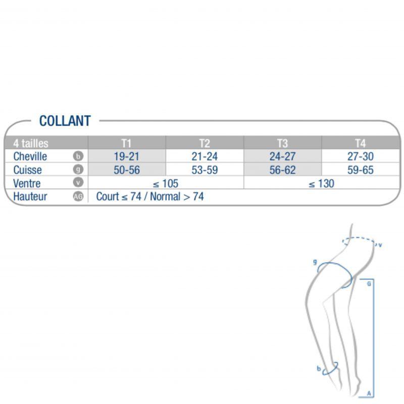 Collant de contention Diva Classe 2 Varisan Naturel Taille 1 Hauteur Normal