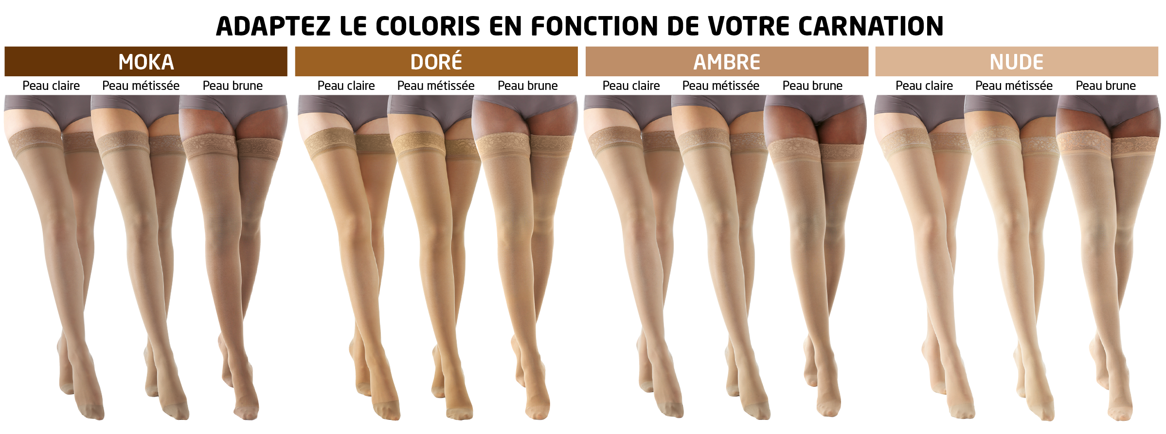 couleurs bas de contention venactif lux classe 2