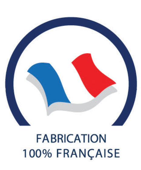 fabrication made in France du bas de contention diaphane pieds ouverts