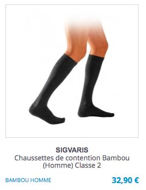 Chaussettes de contention Bambou