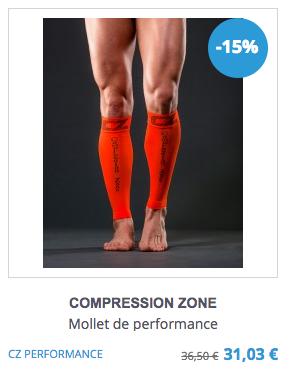 Manchon de compression Compression Zone