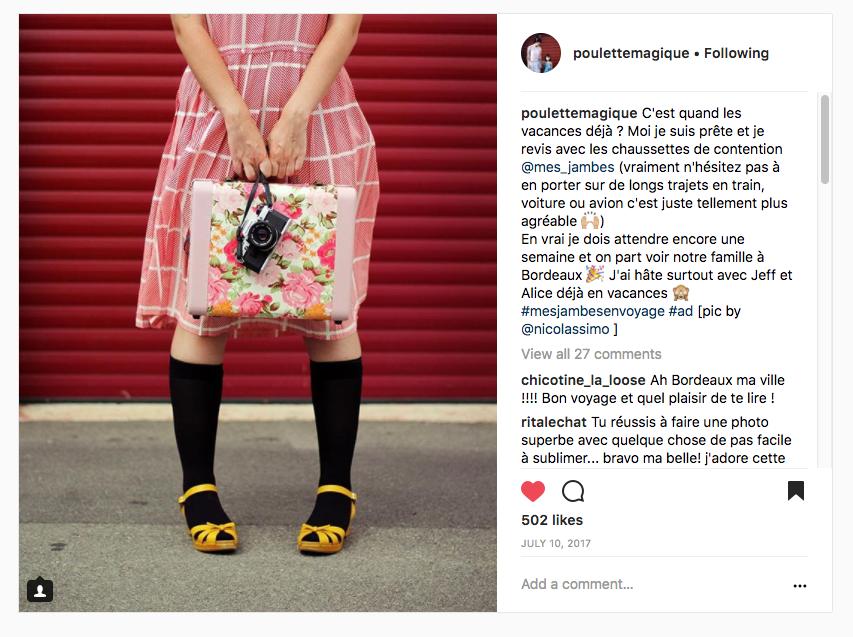 chaussette Soie Varisan sur Instagram