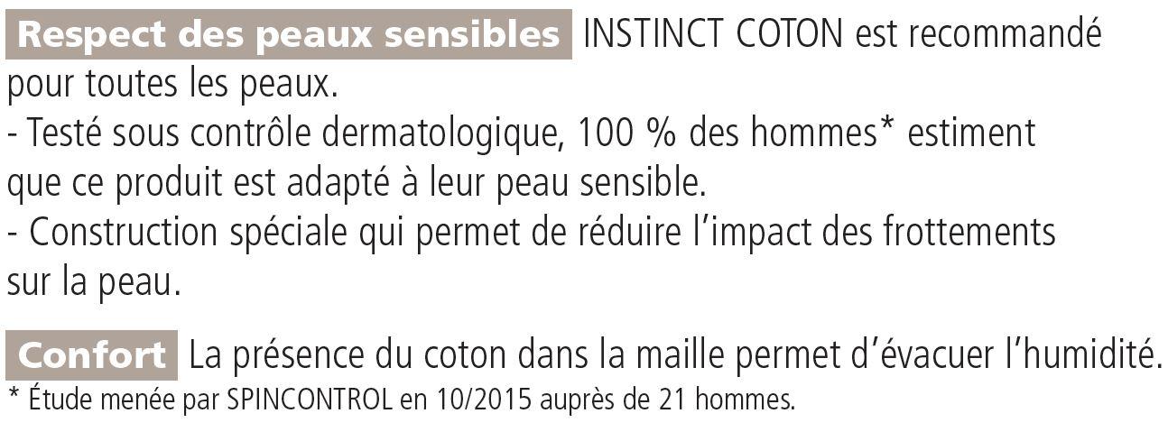 caractéristiques chaussettes de contention Instinct Coton Classe 2 Pieds Ouverts