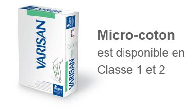 Chaussettes contention micro-coton classe 2 Varisan