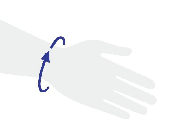 Prise de mesure du poignet