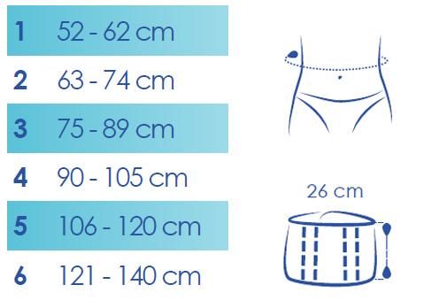 Taille ceinture lombaire lombacross